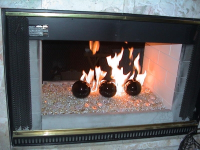 linear fireplace burner direct vent gas