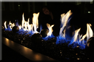 Outdoor Fire Feature Custom Metal Fabrication Fire In