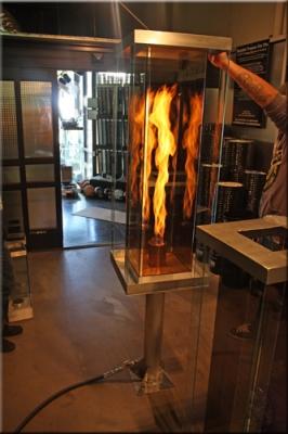 Recreational Vortex Fires Fire In A Glass Box Feature