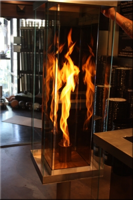 Recreational Vortex Fires Fire In A Glass Box Feature