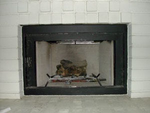 log fireplace conversion
