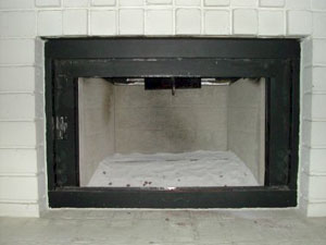 adding sand to a fireplace