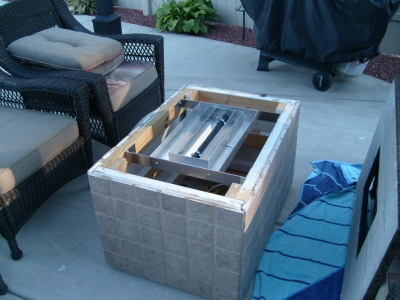 These Fire Tables/pits Were Accomplished Remotely By DIYu0027ers All Over The  Country. This Particular Fire Table Was A Wood Frame With Brick Encasing,  ...