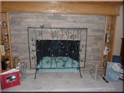 Robert Stauffacher fireglass fireplace