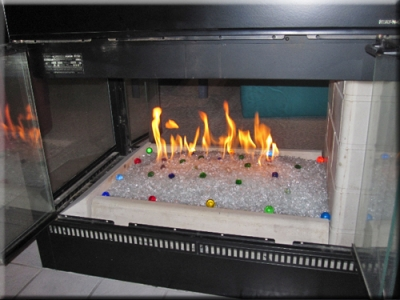 Originators of clean burning fire glass. High quality Fire and glass modern fireplaces.