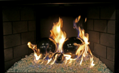 Decorative Fireplace FireBalls or Fire pits. Accent pieces to ...