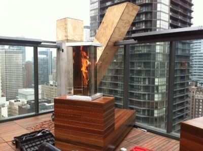 Custom Vortex outdoor fire feature 1
