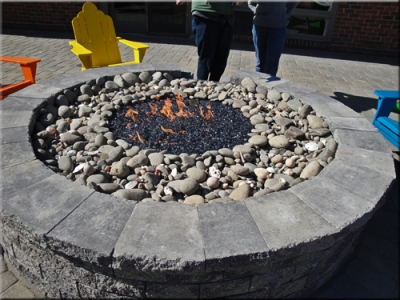 fire pit glass calculator rocks las vegas our customer filled blue reflective base ice topper