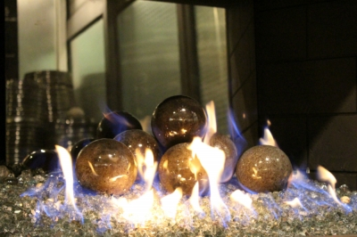 4 gray fireplace fireball