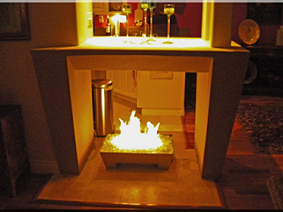 custom fireplace metal pan for fireglass