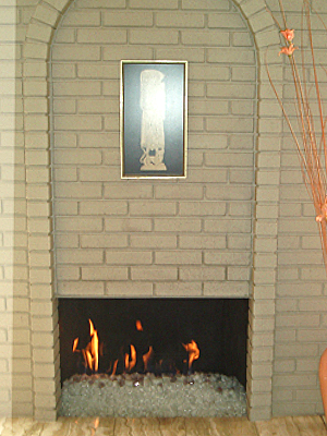 fireglass fireplace