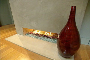 Picture samples of completed fire glass fireplace Ice on fire