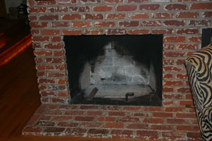dirty log fireplace