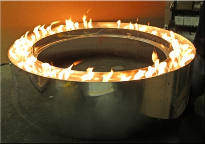 This unique circle fire pit was designed for Joe Le Beau in Nevada. For now  we only have the construction picture's that we took in our shop. - Custom Centerless Fire Pit Rings Propane Or Natural Gas Conversion