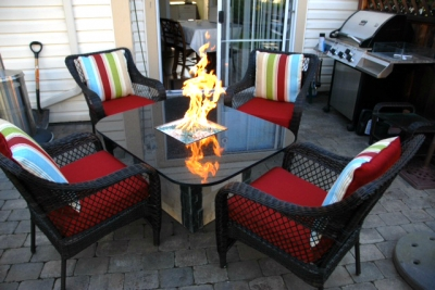 DIY Fire table with Fireglass