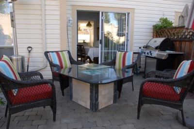 ... DIY Fire Table With Fireglass
