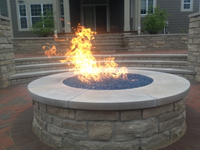 Custom fire pit conversion to fireglass. Exsisting fire pit conversion  propane or natural gas with fireglass. - Custom Fire Pit Conversion To Fireglass. Exsisting Fire Pit
