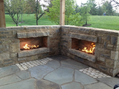Outdoor fireplace with fireglass - Picures Of Outdoor Natural Gas Propane Fireplaces With Fireglass