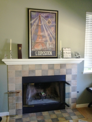 Fireplace convert fireglass design