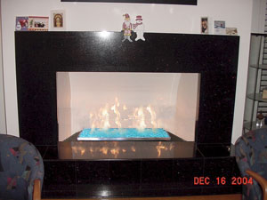 marble fireplace tray