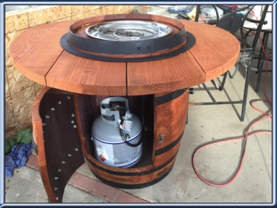Gene Underwood Wine Barrel Fire Pit - Convert A Wine Barrel Into A Safe Outdoor Firepit.
