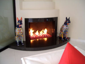Red fireplace glass and fire pit glass. Fireplaces, Aquatic ...