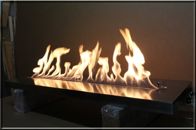 Natural gas or propane Ribbon burner. Linear flame burner for low ...