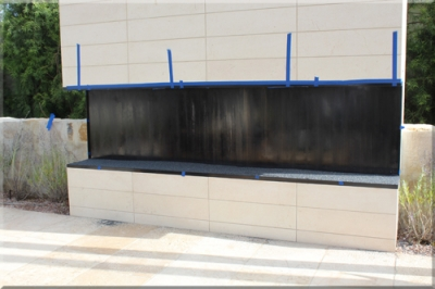 Corten Steel Fireplace Newport Beach