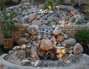 custom fire and water waterfall 1