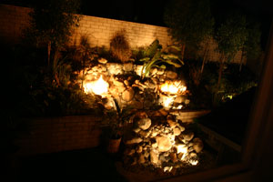 outdoor custom fire and water waterfall fountain 25