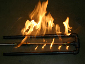 Custom Steel And Stainless Steel Fireplace Pipe Burners For Glassel Fireplaces And Fire Pits