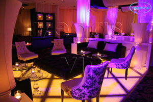 lure lounge and bar indoor fire table