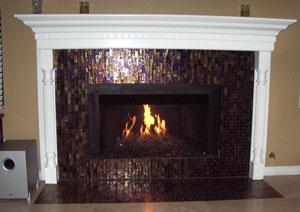 Brown Bronze Reflective fireglass.