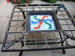 fire glass design for outdoor fire pit