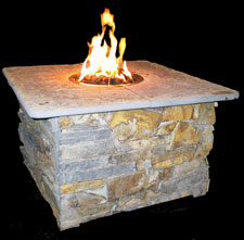 Fire pit table burner accessories
