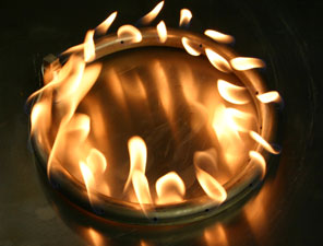 custom center-less fire pit burner ring