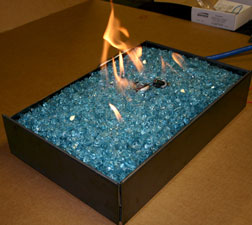 Convert your ventless burner fireplace to safely burn FireGlass.