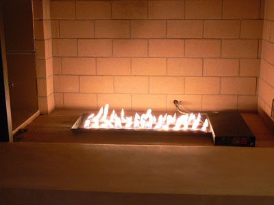 custom portable propane fire pit designed to be used with fireplace glass