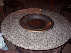 Fire pit table designed by moderustic