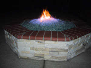 propane gas fire pit glass