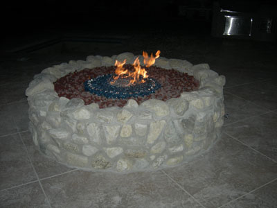 fire pit 3 - Turn Your Old Lava Rock Into A Modern Glass Fire Pit. Our Fire Glass