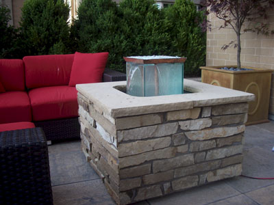 Custom Outdoor Fire And Water Foutain Feature 17 ...