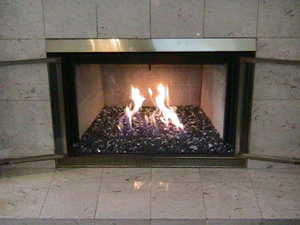 fireplace ideas using fire rocks
