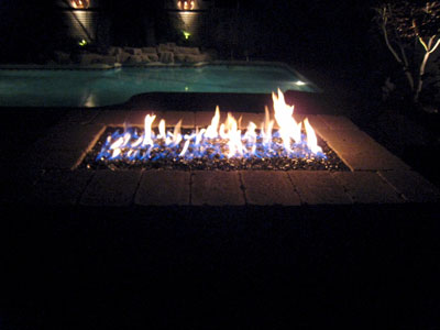 This fire pit is filled with Clear Base Glass FireGlass along with a marine  grade vinyl cover. - Custom Designed Fire Pit Covers. We Manufacture Soft Tops And Or