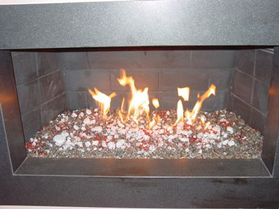 Update your old wood burning fireplace with fire and ice. Clean ...
