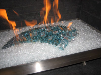 Custom fireplace metal pans, basket burners, natural gas or propane.