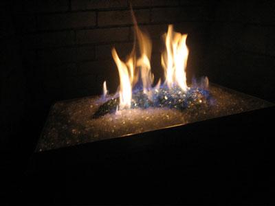 Custom fireplace metal pans, basket burners, natural gas or propane.