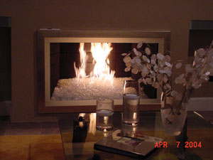 Fireplaces With Glass Rocks Here Are 2 Pictures Of The Same Fireplace That Reveal When It Really
