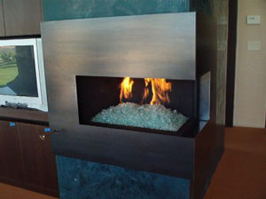 fire crystal corner fireplace