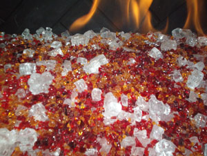 mixed fireglass